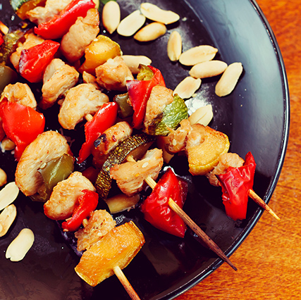 Teriyaki Chicken Kabobs w/ Vegetables